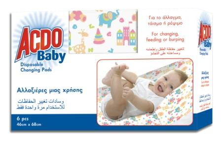 Acdo Baby Disposable Changing Pads 6pcs